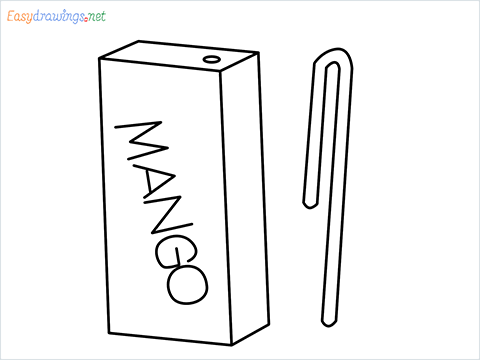 how to draw mango juice step by step for beginners