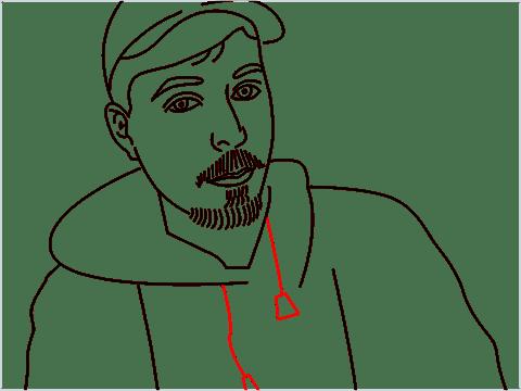 how to draw mrbeast step (13)