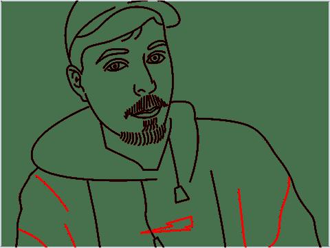 how to draw mrbeast step (14)