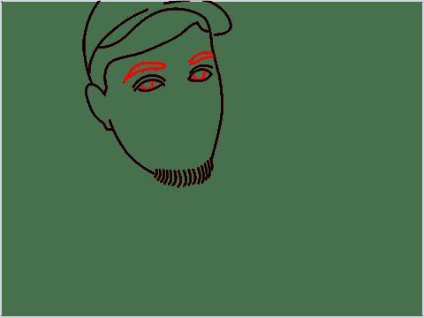 how to draw mrbeast step (7)