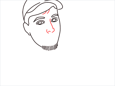 how to draw mrbeast step (8)