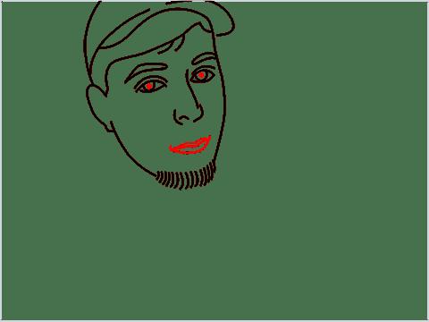 how to draw mrbeast step (9)