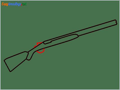how to draw shotgun step (4)