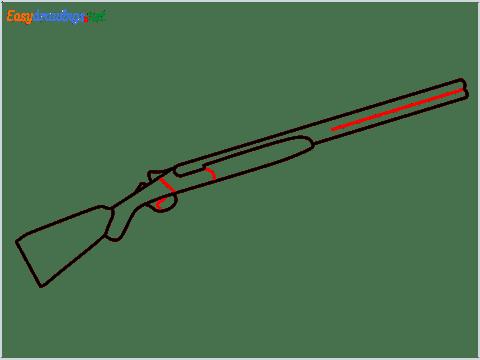 how to draw shotgun step (5)