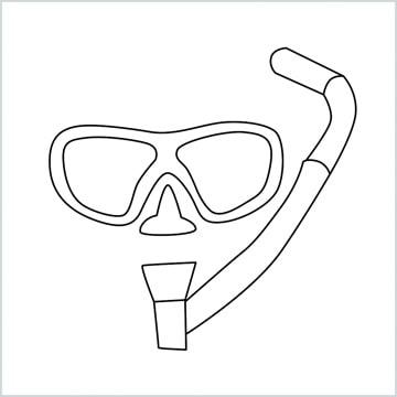 draw a snorkel