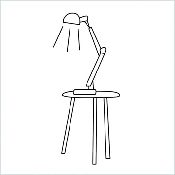 draw a table lamp