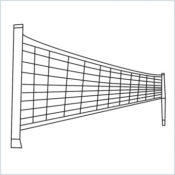 draw a volleyball net