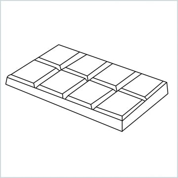 draw chocolate bar