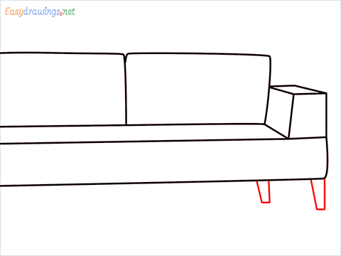 how to draw a couch Step (6)