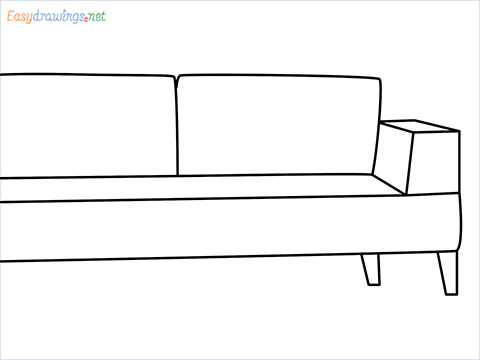 how to draw a couch Step by Step for Beginners