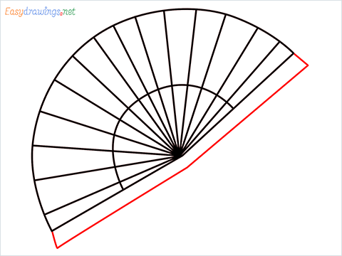 how to draw a hand fan Step (5)