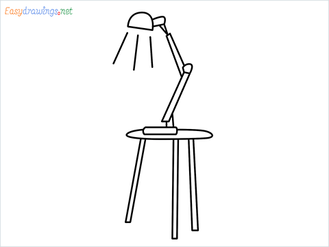 how to draw a table lamp Step by Step for Beginners