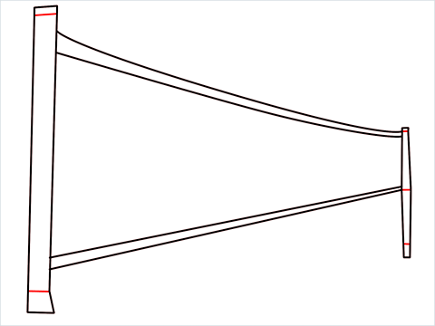 how to draw a volleyball net Step (4)