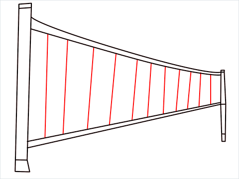 how to draw a volleyball net Step (5)