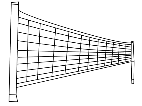how to draw a volleyball net Step by Step for Beginners