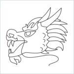 draw Dragon face Emoji