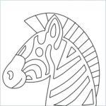 draw Zebra Emoji
