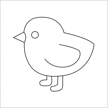 draw baby chick
