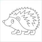draw hedgehog E