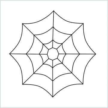 draw spider web