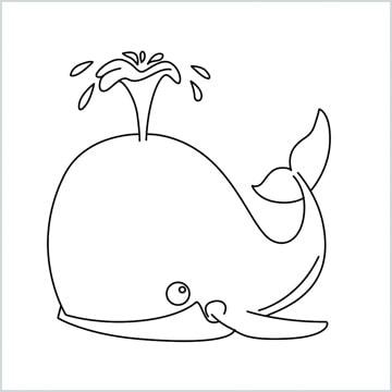 draw spouting whale