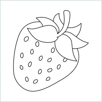 draw strawberry