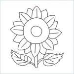 easy draw sunflower